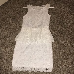 Dresses & Skirts - White lace overlay dress